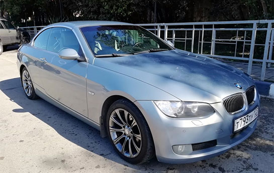 BMW 325I CABRIO/серо-синий