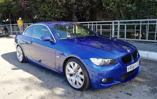 BMW 325I CABRIO/синий